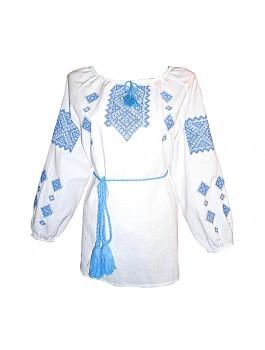 Вышиванка женская, машинная крестиком. Домотканое полотно или лён