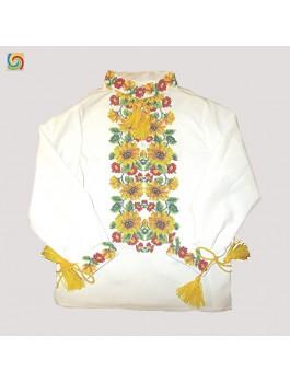 Вышиванка детская для мальчика, машинная вышивка. Габардин