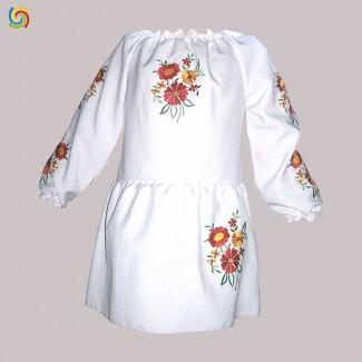 Детское вышитое платье, машинная вышивка. Габардин