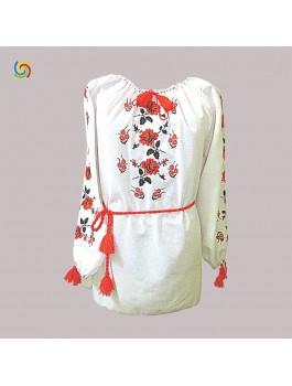 Вишиванка жіноча, машинна вишивка, гладдю. Домоткане полотно або габардин