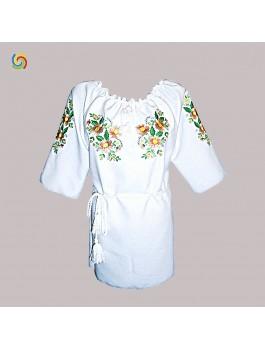 Вышиванка женская, машинная вышивка гладью. Шифон, габардин или поплин