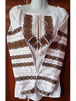 Вишиванка жіноча, машинна вишивка, хрестиком. Домоткане полотно