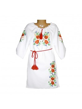 Платье вышитое женское, машинная гладь. Габардин