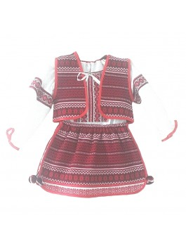 Детское вышитое платье тканой вышивки. Хлопок или поплин