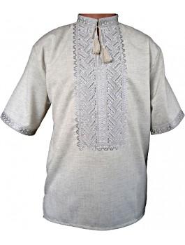 Вишиванка чоловіча, машинна вишивка, гладдю. Льон або домоткане полотно