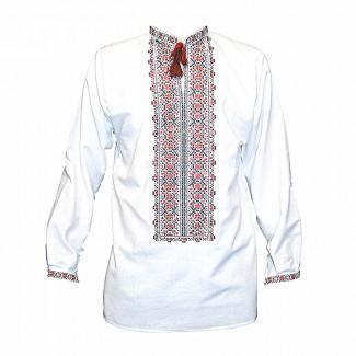 Вышиванка мужская машинная вышивка. Домотканое полотно