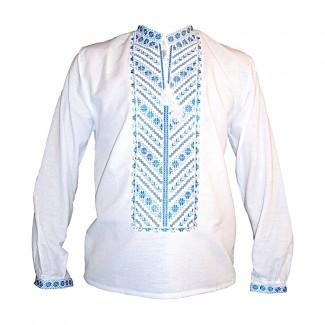 Вышиванка мужская, машинная вышивка. Домотканое полотно или лен