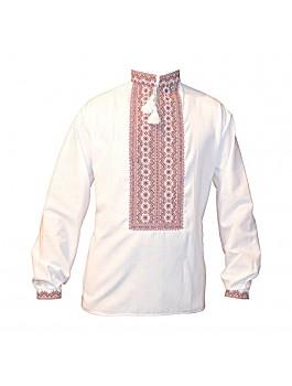 Вышиванка мужская, машинная вышивка, крестиком. Домотканое полотно, лён или габардин