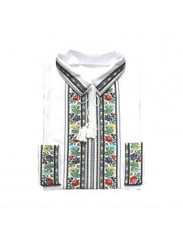 Вышиванка мужская, машинная вышивка крестиком. Лён или домотканое полотно