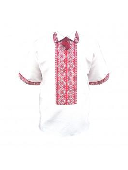 Вышиванка мужская, ручная работа, вышивка крестиком. Лён или домотканое полотно