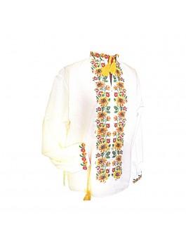 Вышиванка мужская, машинная вышивка, крестиком. Лен или габардин