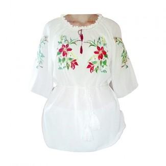 Вышиванка женская, машинная вышивка. Шифон или габардин