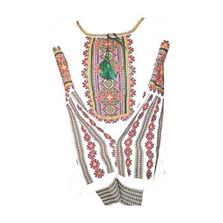 Вышиванка женская, машинная вышивка крестиком. Лён или домотканое полотно