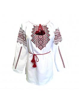 Вышиванка женская, машинная крестиком. Габардин, поплин, лен или домотканое полотно