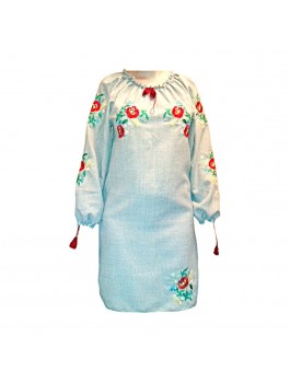 Платье вышитое женское. Машинная   гладь. Габардин