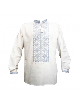 Вышиванка мужская, машинная вышивка. Домотканое полотно или  лён